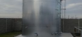 Galvanized steel 125 cbm tanks