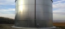 Galvanized steel 400 mc tanks